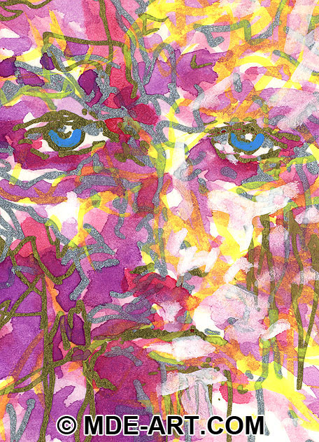 Abstract Drawing of a Face, Detail