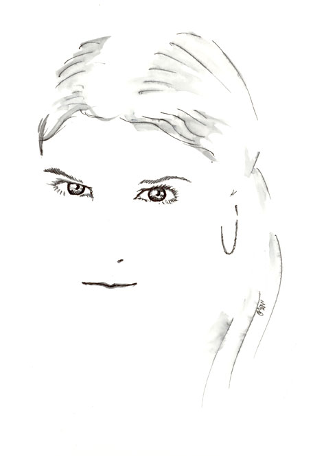 A Quick Pen Sketch of Pop Singer Nelly Furtado