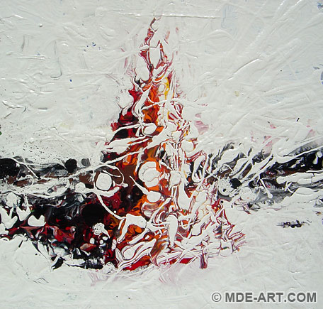 Expressive Abstract Acrylic Painting of a Cone