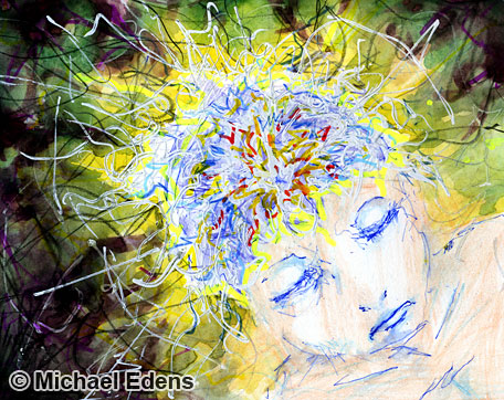 I Have a Road Less Traveled in Mind   Drawing of a Person Meditating on Thoughts of the Mind