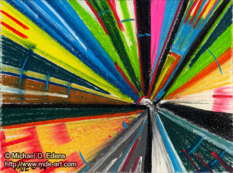 """Abstract Art, """"Joy"""" created with colorful pastels by Michael D. Edens"""