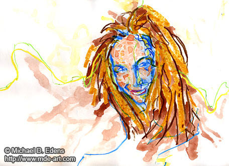Hair | Abstract Drawing and Painting of a Woman