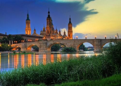Basilica_del_Pilar-sunset