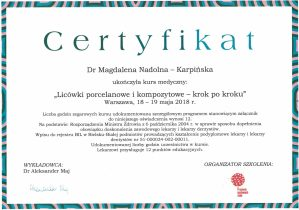 certyfikat implanty