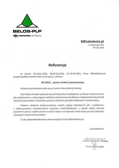 MDszkolenia.pl_Referencje_MS Excel-poziom średnio zaawansowany