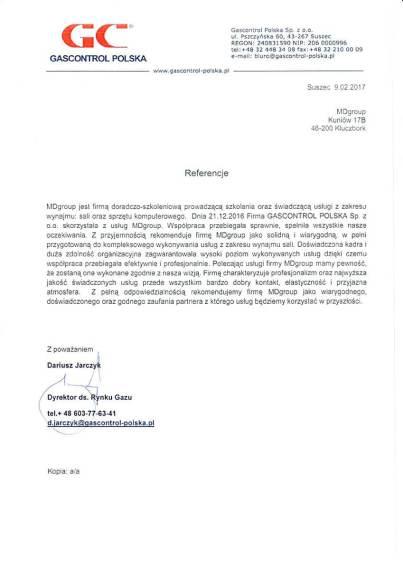 Referencje_Wynajem sali