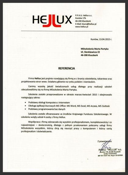 MDszkolenia.pl_Referencje_Podstawy obsługi komputera z Internetem, MS Office, Programowanie baz danych
