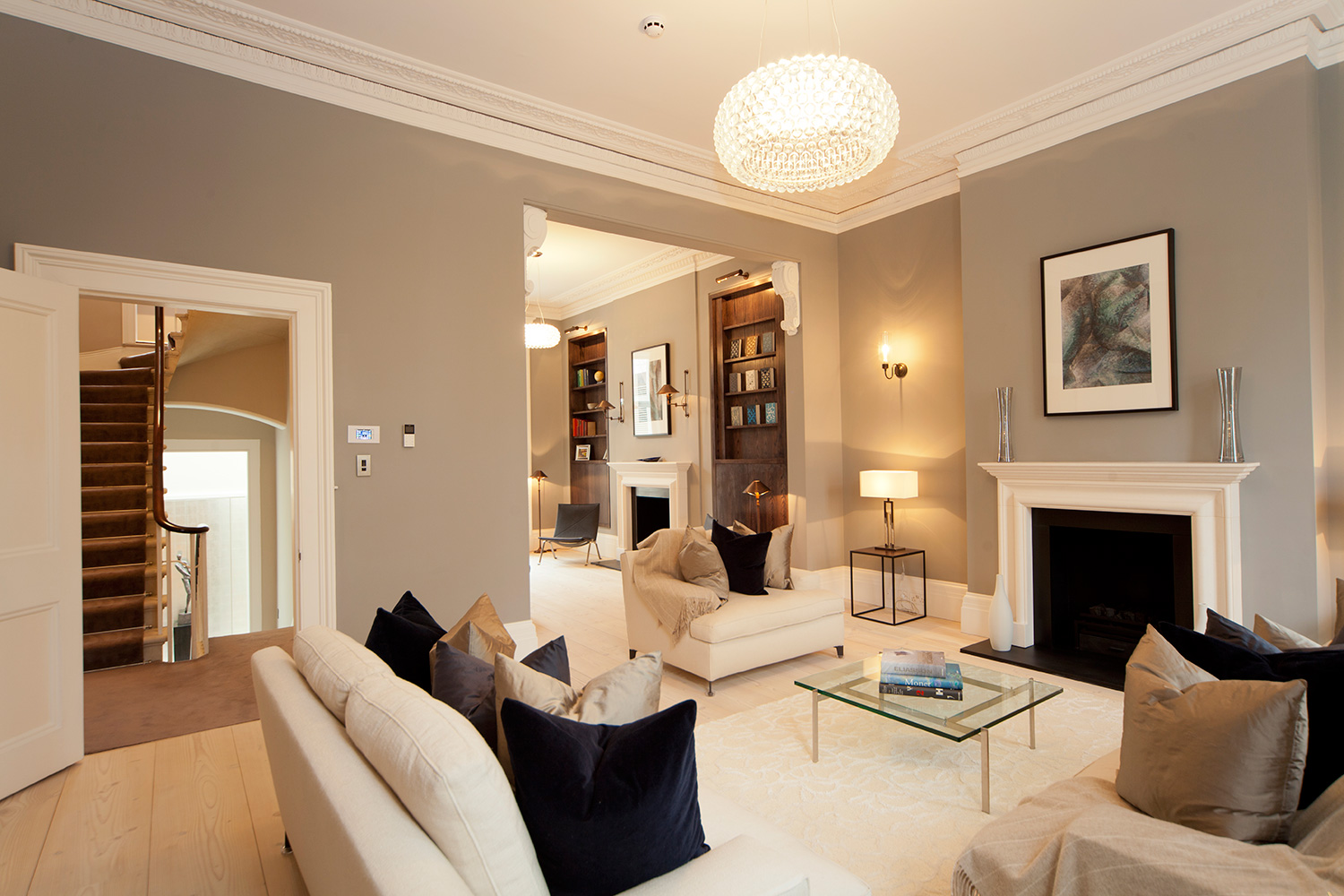 Living space in luxury home