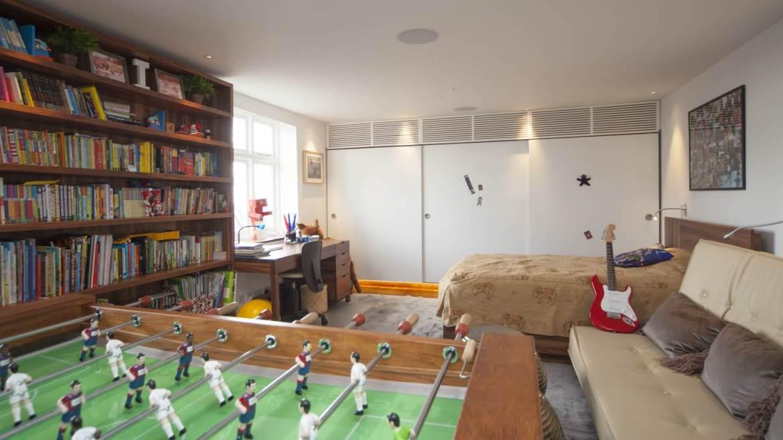 Child's bedroom in luxury smart home