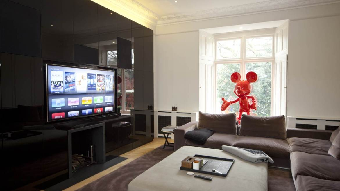 Home cinema room in luxury Holland Park home