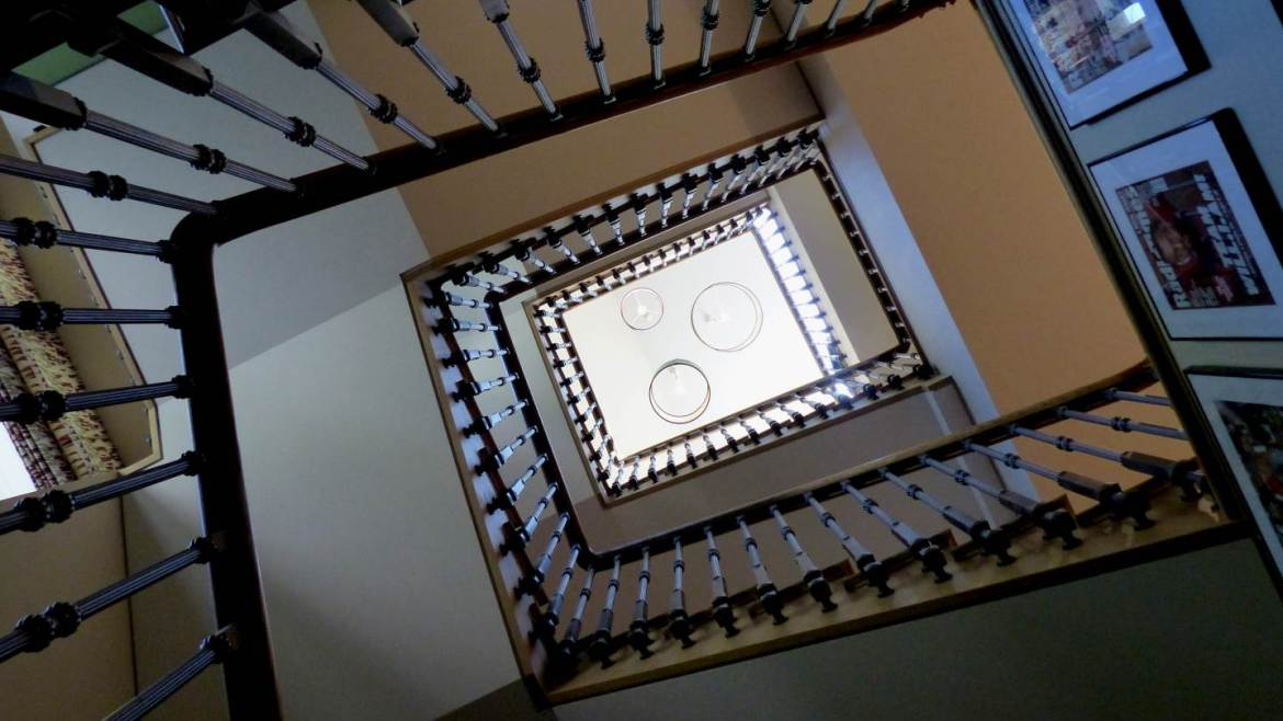 Shot of stairs in Highgate home