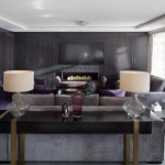 Wide view of home cinema room in high-end Hyde Park home
