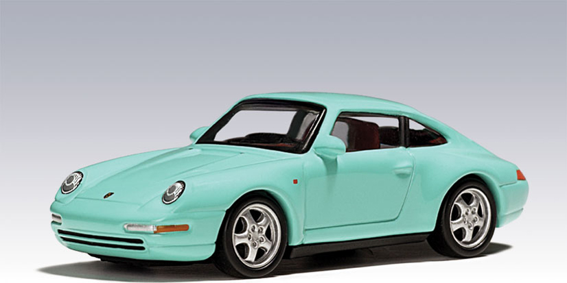 AUTOart Porsche 993 Coupe Mint Green 20121 In 164 Scale MDiecast