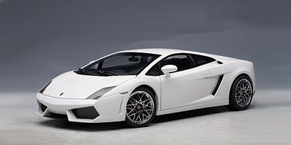 AUTOart Lamborghini Gallardo LP560 4 MonocerusMetallic White 74587 In 118 Scale MDiecast