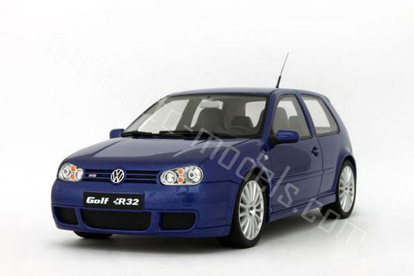 OttO 2002 Volkswagen Golf R32 Deep Blue Pearl OT086 In 118 Scale MDiecast