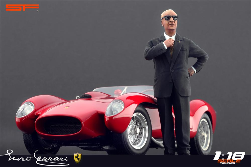 Scale Figures Enzo Ferrari Figure Dark Blue Suit SF118006 In 118 Scale MDiecast
