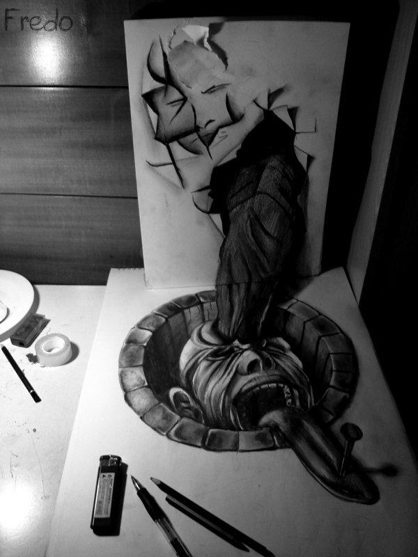 Desenhos 3D incríveis 05