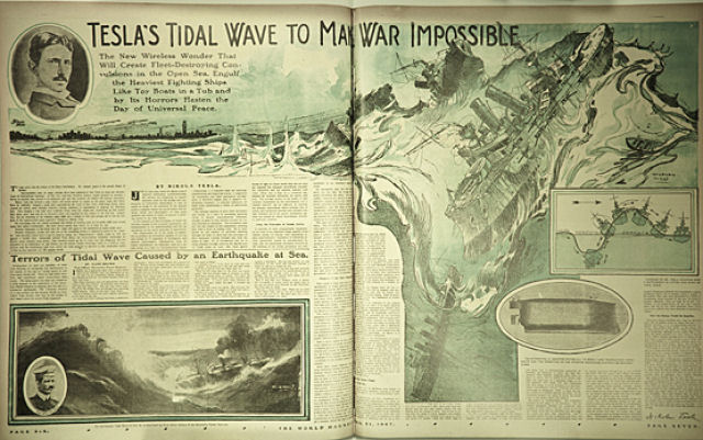 A máquina de Tsunamis de Tesla