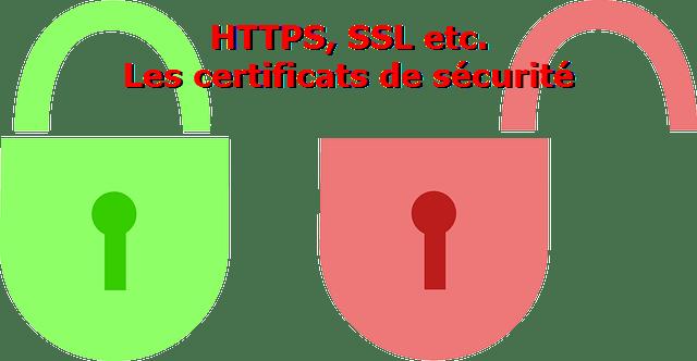 Certificat de sécurité SSL HTTPS