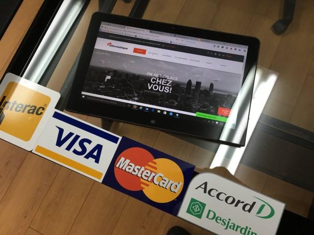 Visa MasterCard American Express MD Informatique Interac