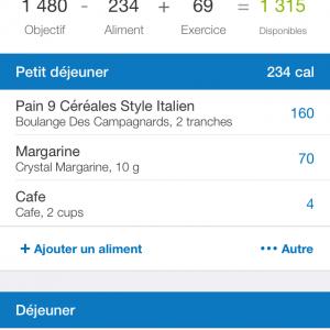 Calories myfitnesspal