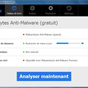 Malware Bytes anti spyware GUI