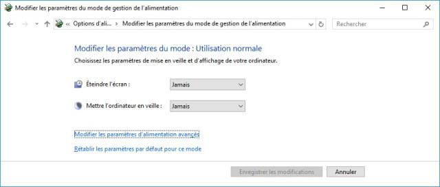 Désactiver la mise en veille de Windows 7