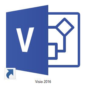 Logo de Microsoft Visio 2016