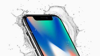 iPhone X eau