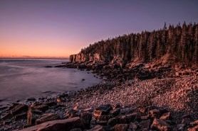 Otter Cliff at Sunrise by Ken Small