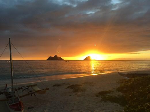 Sunrise Over The Mokulua Islands