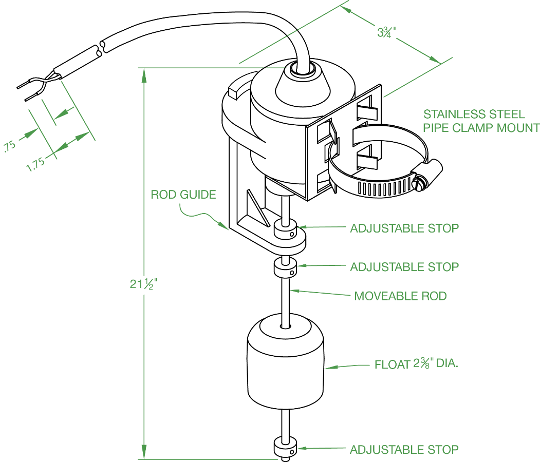 Vertical Float Switch