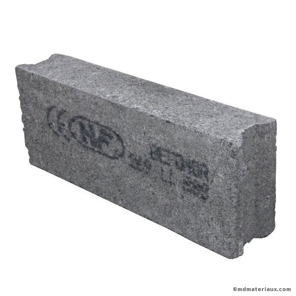 Bloc Beton 15x20x50 Cm Plein Nf L U Mdmateriaux Com