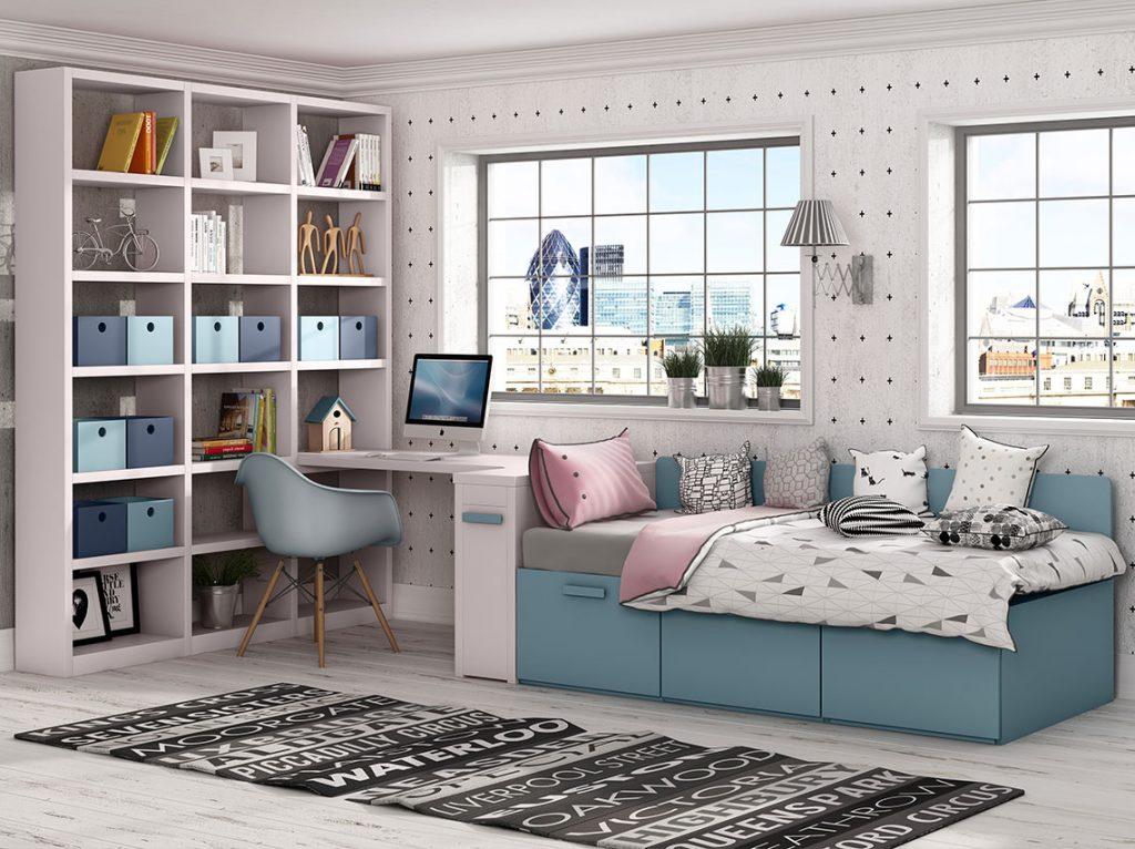 Dormitorio juvenil contemporáneo 1