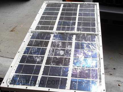 The completed solar panel