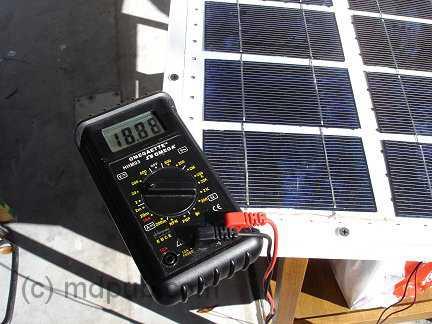 Solar panel Voltage output