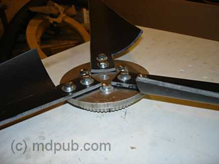 The hub with the blades attached