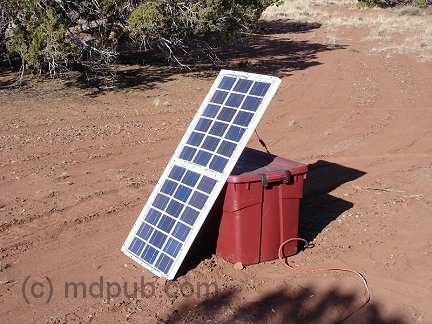My home-built solar panel