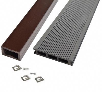 kit complet terrasse bois composite anthracite pro xtrem 26x140 mm