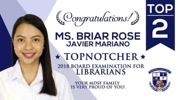 MDSF is the home of faculty topnotchers