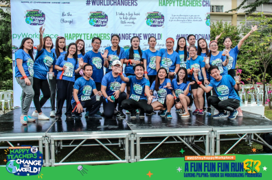 MDSF Faculty and Staff end first sem with fun run