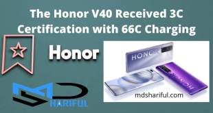The Honor V40 received 3C certification