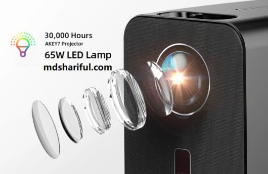 AUN AKEY7 LCD LED Projector design