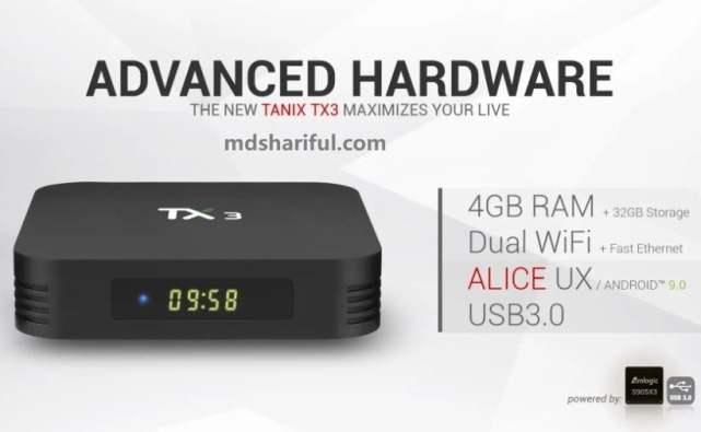 Tanix TX3 S905X3 hardware