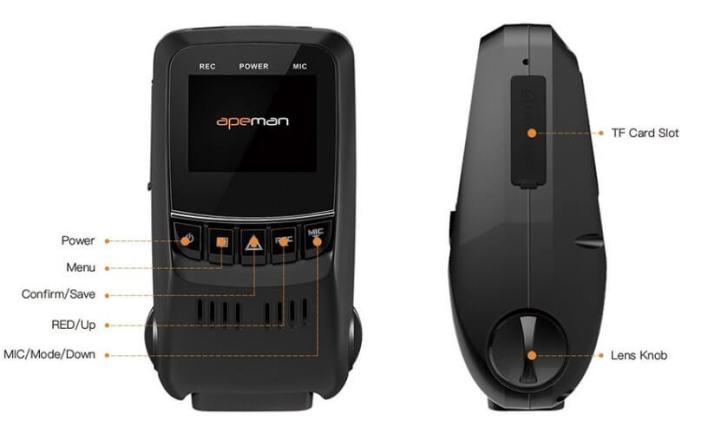 APEMAN C550 DASH CAM feature