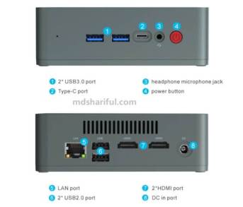 Beelink U57 Mini PC design