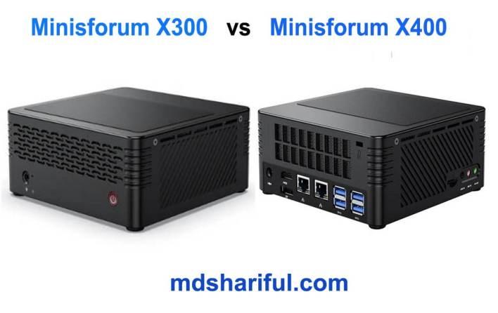 Minisforum X300 vs X400
