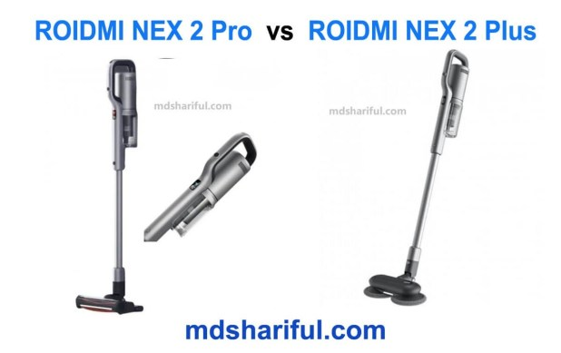 ROIDMI NEX 2 Pro vs NEX 2 Plus