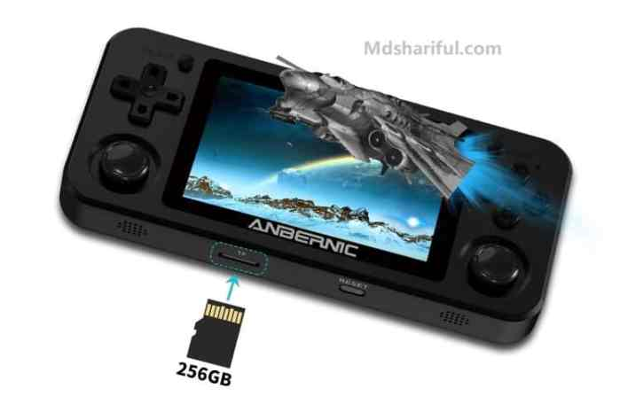 ANBERNIC RG351M Review sd card