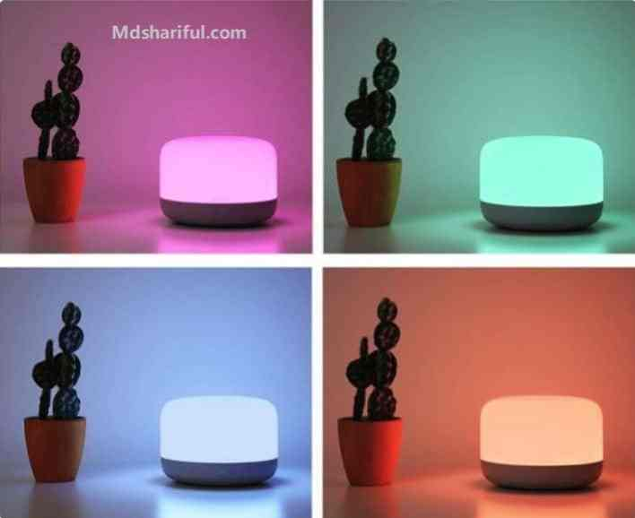 Yeelight LED bedside lamp 2 Review colors